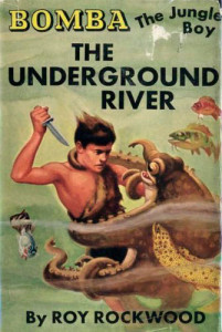 "The dust-jacket for ""Underground River."""