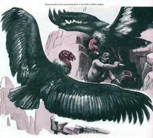 Carl V. Burger pulp magazine illustration.